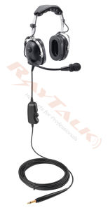 Communication Ground Support Headset with Ptt & Flexible Boom Microphone pictures & photos