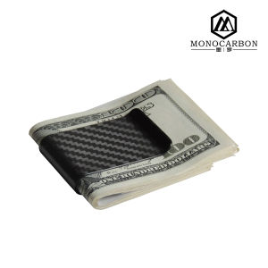 2016 Wholesale Promotional Gift Parts Carbon Fiber Money Clip with Spring
