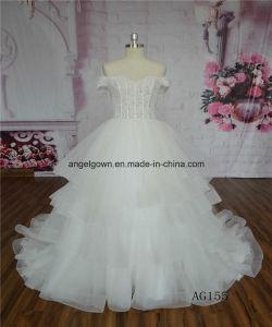 China See Through Beaded Lace Princess Puffy Wedding Dress - China ...