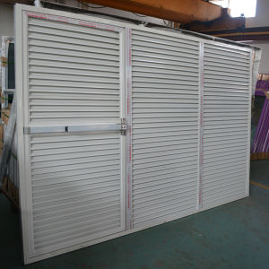 High Quality Powder Coated Aluminum Profile Fixed Shutter Casement Door K06041
