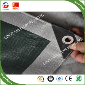 Thick Silver Coated Tarpaulin Waterproof Fabric Durable Service Apparel Sewing & Fabric