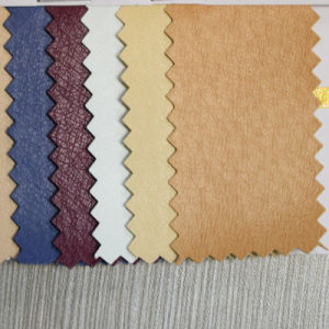 Pigskin Grain Imitation PU Leather for Footwear Lining (HST043) pictures & photos