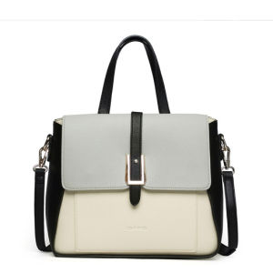 Women PU Shoulder Zipper Dull Polish Handbag with BSCI (ZX10368) pictures & photos