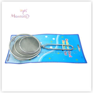 3PCS Kitchen Tools Sieves, Metal Colander Mesh Strainer pictures & photos