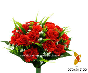 Artificial/Plastic/Silk Flower Rose Bush (2724017-22) pictures & photos
