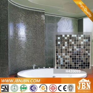 Black Shining Bathroom Wall Pattern Artist Glass Mosaic (H420099) pictures & photos