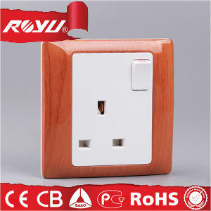250V 13A Switch Socket Outlet, Universal Wall Mount Socket Outlets pictures & photos