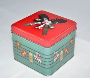 Square Metal Box for Cookies pictures & photos