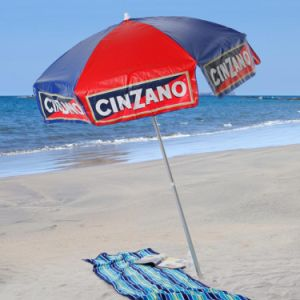 6FT Cinzano Vinyl Beach Umbrella