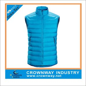 Wholesale Warm Winter Sleeveless Faked Down Jackets for Men pictures & photos
