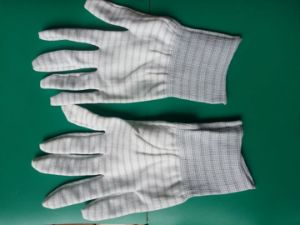 ESD Polyster Mixed with Carbon Glove 3W-9511-1 pictures & photos