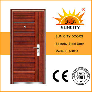Low Price Metal Iron Door Fancy Design (SC-S054) pictures & photos