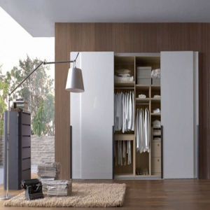 Melamine MDF Sliding Door Wardrobe (ZH-088) pictures & photos