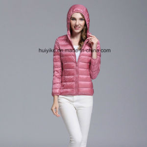 628b73f8a 2018 Year Young Lady/Girl/Women Short Type Light Thin Hooded Down Jackets