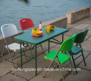 China Supplier Outdoor Portable 4ft Colored Small Plastic Folding In Half  Table For Picnic/Catering
