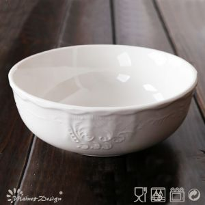 White Porcelain with Emboss Classic Design Bowl pictures & photos
