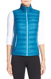 Women Slim Stand Collar Down Vest pictures & photos