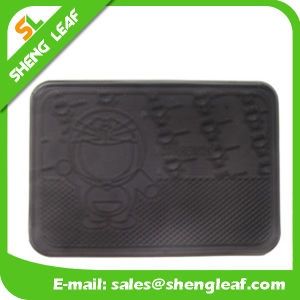 Rectangle Promotional Gifts Customized Special Logo Rubber Mat (SLF-AP013)