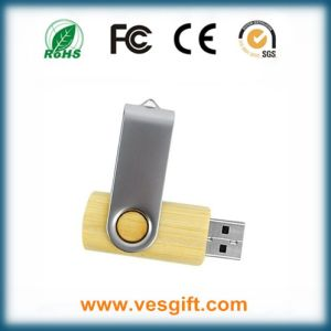 Promotional Gift Twister Wood+Metal USB Flash Pendrive pictures & photos