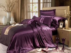 Taihu Snow Home Textile Sheet Oeko-Tex Seamless Silk Bedding Set Bed Linen pictures & photos