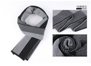 Men′s Fashion Striped Wool Polyester Nylon Acrylic Woven Scarf (YKY4612) pictures & photos
