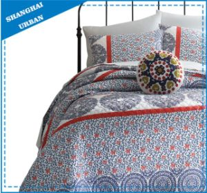 Blue and White Porcelain Printed Polyester Quilt Set pictures & photos