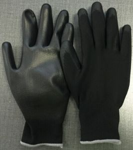 13gauge Polyester/Nylon Liner PU Coated Safety Work Glove pictures & photos
