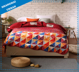 100%Polyester Print Home Bedding Scallop Quilt pictures & photos