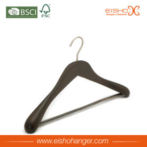 Luxury Wooden Suits Hanger With Nonslip Bar(MC077) pictures & photos