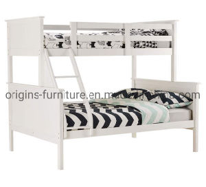 China Triple 3 Sleeper Wooden Bunk Bed Top Single Bed Bottom Double Bed For Children Kids Bedroom China Triple Bunk Bed Triple Sleeper Bunk Bed