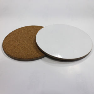 Blank Sublimation Coaster, Made of MDF with Cork Back pictures & photos