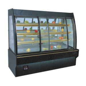 Cake Display Cabinets for Countertop Round Cake Showcase 0.9m Square Right Angle White