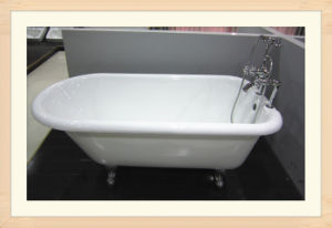 Cute Roll Top Freestanding Cast Iron Bathtub Sw-1004A