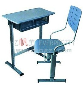Student Furniture Adjustable Single Desk Chair Sets pictures & photos