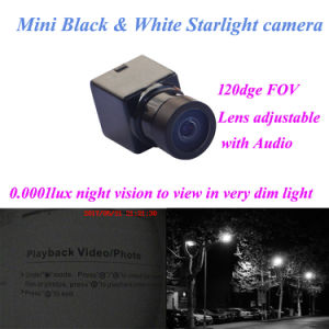 120deg Fov Audio Video Black White Mini Security Cameras Night Vision 0.0001lux 600tvl with House pictures & photos
