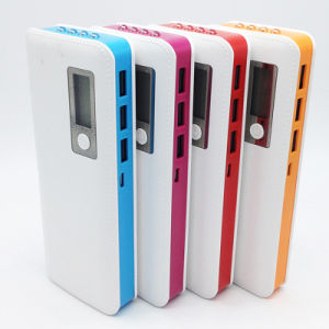 High Capacity 12000mAh Digital Display Portable Power Bank with LED Light