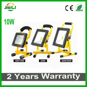 2016 Flat Type 10W 4h Rechargeable LED Floodlight pictures & photos