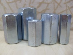 Steel with Zinc Plated Hex Coupling Nuts DIN 6334