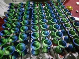 Green Anodized CNC Machining Parts