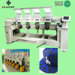 china 4 head industrial flat embroidery machine for logo letter