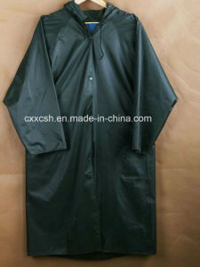 Military Polyester PU Raincoat Poncho pictures & photos