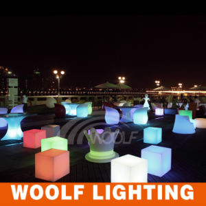 Outdoor Color Light Decoration LED Cube Furniture