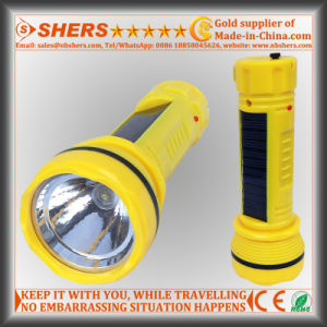 Solar Powered 1W LED Flashlight for Searching, Hunting (SH-1935)