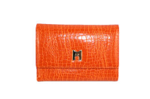 Fashionable High Quality Croc Pattern Genuine Cow Purse Wallet (HW250030)