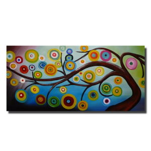 Large Modern Abstract Tree Oil Painting
