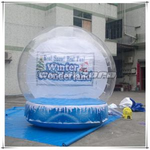 Super Quality Clear Inflatable Snow Globe for Christmas Day