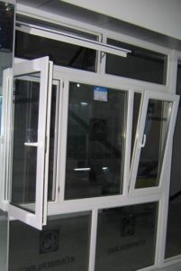 Aluminum Tilt and Turn Windows and Doors Outward Opening House Window