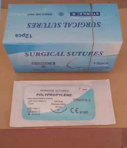 Surgical Suture Polypropylene Mono USP2/0 pictures & photos