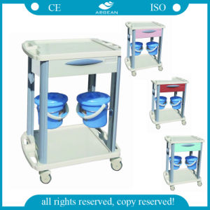 AG-CT001b3 with Four Luxurious Noiseless Casters ABS Hospital Trolley pictures & photos