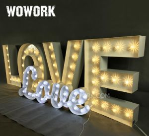 China Led Waterproof Illuminated Love Light Up Letters Wedding